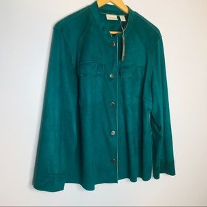 Chico's Double Face Faux Suede Jacket NWT